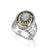 Angels' Names: Silver and Gold Ring with Labradorite Stone