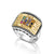 925 Sterling Silver Ring with 9K Gold Hoshen / Twelve Tribes of Israel Plate