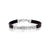 Black Leather Men's Bracelet with Silver Plated Priestly Blessingis studded with white zircon stones, gift for men, birthday gift