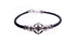 Sterling Silver and Black Silicon Star of David Bracelet, Ana Bekoach
