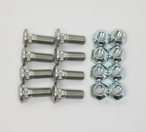 Set of 8 Lug Studs with Nuts Fits CAT 226B3 1595772 1427493