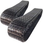 2 Rubber Tracks Fits  CAT 257B2 Straight Bar Tread 15X4X42 3258624