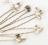 Sparkling Crystal Wedding Hair Pins