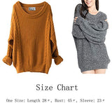 Womens Cashmere Oversized Loose Knitted Winter Sweater