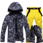 Warm Ski Suit Winter Gloves Snowboard Jacket Pants