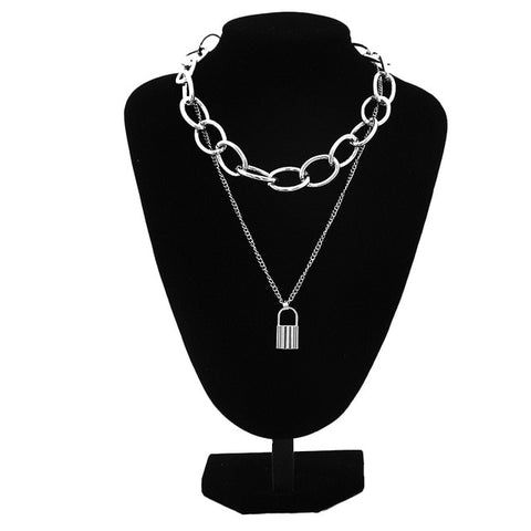 Vintage  Chunky Chain Choker Necklace