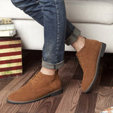 Mens Genuine Leather Shoes Lace Up Boots