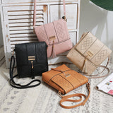 4 COLORS Womens Hollow Out Cover Tassel Shoulder Handbag Small PU Leather Clutch Crossbody Bag