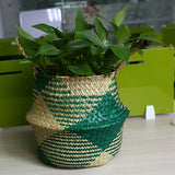 Handmade Rattan Woven Flower Basket Decor