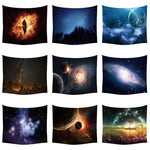 Night Starry Sky Cosmic Galaxy Universe Tapestry