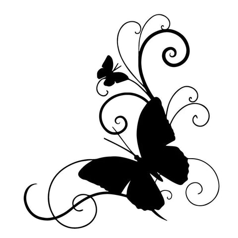 Butterfly Car Vinyl Sticker Decal