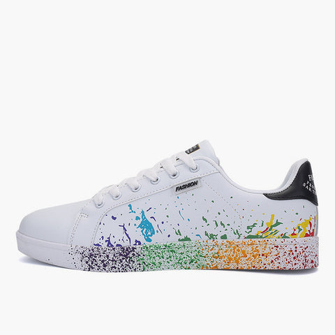 Women Flat Sneakers Colorful Graffiti Shoes