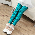 Mermaid Girls Skinny Leggings Children Pants