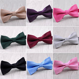 Mens Solid Bowties Formal Styles