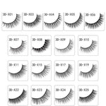 New 3 Pairs Natural False Eyelashes Fake Lashes Long Extension Eyelash