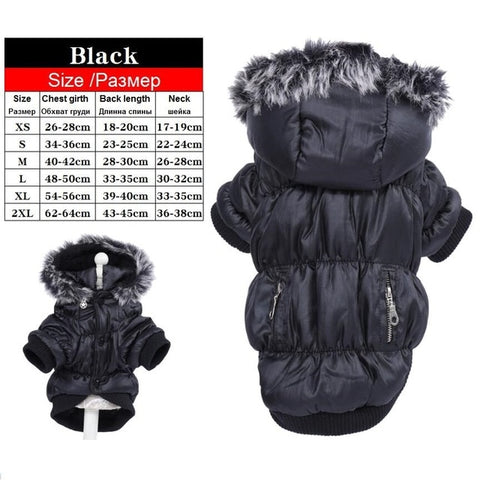 Warm Winter Dog Clothes Parkas Pet Coat Jacket
