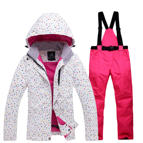 Womens Ski Suit Waterproof Windproof Jacket Pants Set