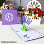 3D Pop Up Mothers Day Flower Greeting Birthday Card