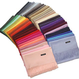 24 Solid COLORS Cashmere Long Scarves with Tassels