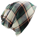 Fall Winter Hats Plaid Skullies Beanies