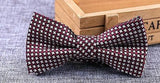 Woven Polka Dot Checked Stripped Bowtie