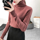 Womens Sweater Pullover Turtleneck Top