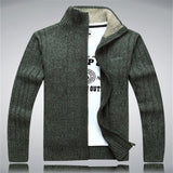 Men Sweaters Wool Cotton Zipper Wear Cardigan