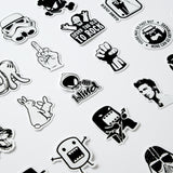50 Funny Black White Car Stickers Cool Vinyl Decal