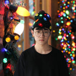 LED Christmas Hats Light Up Knitted Beanie Children Adult Ugly Xmas Sweater