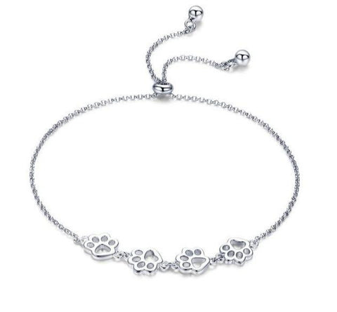 925 Sterling Silver Pet Paw Bracelet
