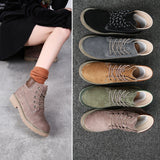 Womens Fashion Leather Ankle Boots