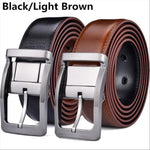 Mens Genuine Leather Dress Reversible Belt