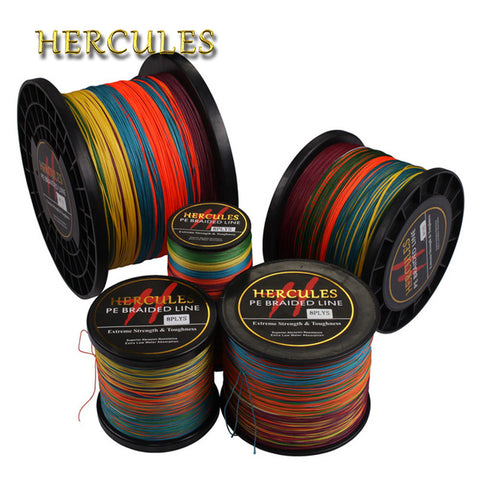 Hercules Braided Fishing Line 8 Strands Multicolor