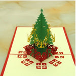 Xmas 3D Pop Up Greeting Card Christmas Party Postcards