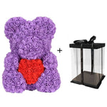 40cm Teddy Bear Rose with Heart Flower Artificial Gift