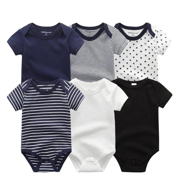 25 STYLES  6Pcs/sets Newborn Baby Boy Girl Onesies Clothes Short Sleeve