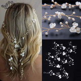 Crystal Boho Wedding Hair Floral Accessory