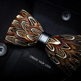 Feather Luxury Peacock Bowtie Gift