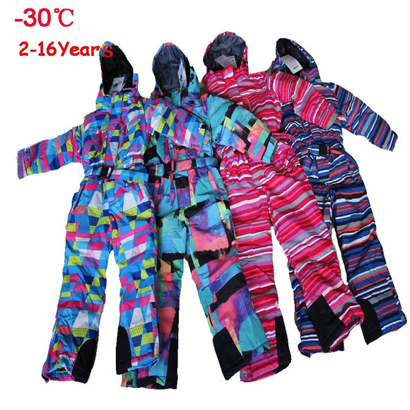 Winter Snowsuit Winter For Children Waterproof Snowboard Ski Jacket Sportswear Outerwear