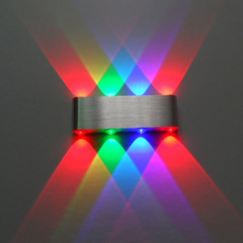Modern 8W Up Down LED Wall Light Cuboid Colorful Lamp