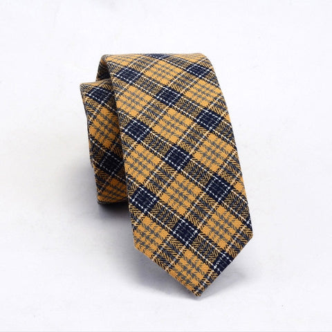 Mens Cotton Slim Ties Striped Fashion Casual