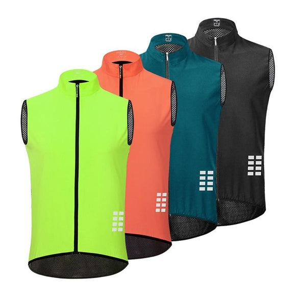 Men Reflective Cycling/Work Vest Breathable Lightweight Windproof
