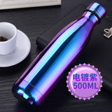 Insulated Vacuum Water Bottle Stainless Steel