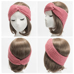 Winter Cap Knitted Hat Ponytail Beanie Twisted Knot
