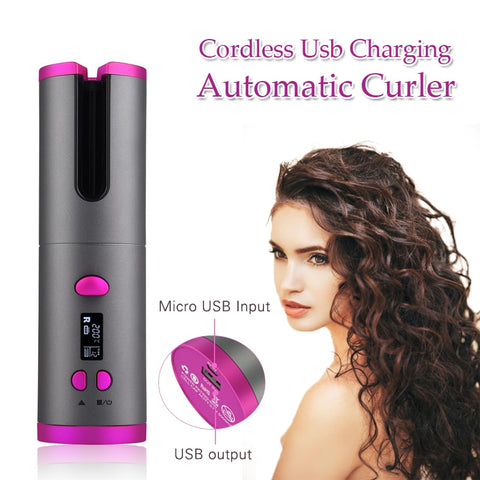 Wireless Curling Iron Hair Waves Air Curler
