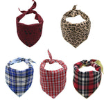 Adjustable Plaid Pet Dog Neck Scarf Bandana