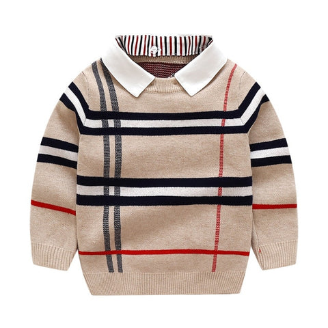 2-8T Toddler Kid Boy Clothes Autumn Winter Warm Pullover Top