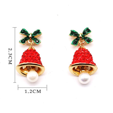 Christmas Bell Earrings Jewelry