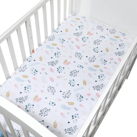 Crib Mattress Cotton Soft Fitted Sheet