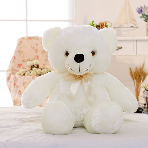 Colorful Light Up LED Teddy Bear Stuffed Plush Toy